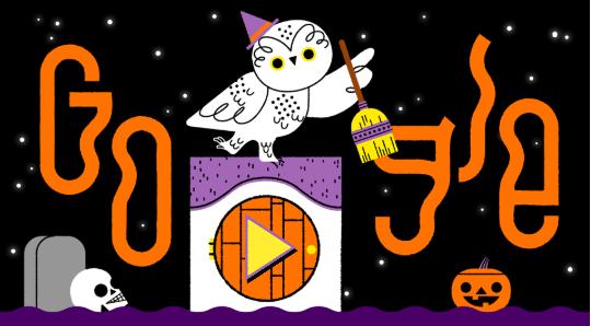 2019 年ハロウィンバージョンにGoogleのロゴが変更!!10/31は日本中で仮装ハロウィンパーティ!!