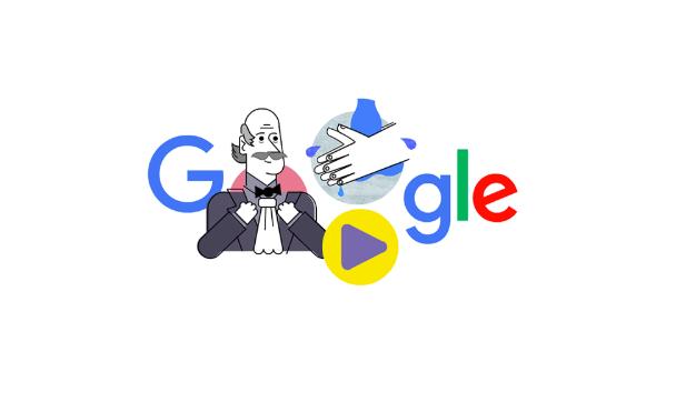 3月20日のgoogleロゴが変更!!新型コロナ感染予防を願ってセンメルヴェイス・イグナーツが登場!!