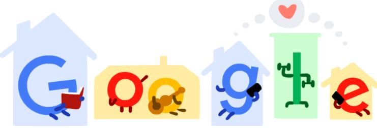 Stay Home. Save Lives.(新型コロナウイルス感染症)に4月4日のgoogleロゴが変更!!自宅で過ごすことが命を救うというgoogleからのメッセージ!!