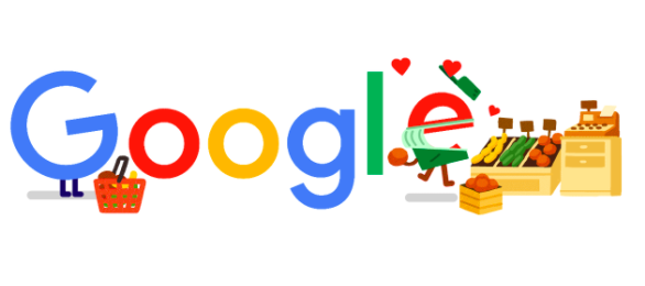 店舗 コロナ 応援に4月13日のgoogleロゴが変更!!飲食店、食料品店舗の営業に感謝を込めて!!