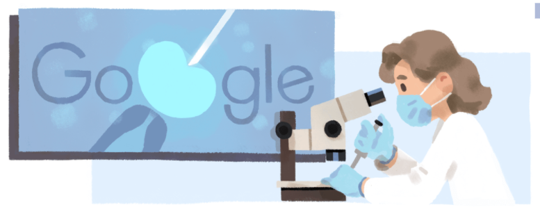 アン・マクラーレンにGoogleロゴが変更!!イギリス生まれ、発生生物学の第一人者の生誕94周年